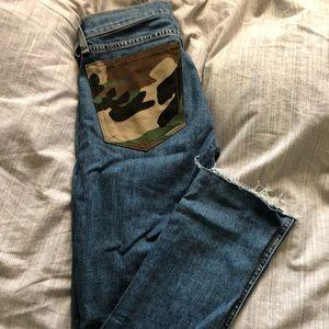 Rag & Bone Skinny Raw Hem Jeans